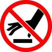 do not touch surface iso prohibition symbol
