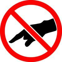 do not touch iso prohibition symbol