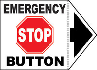 Emergency Stop Button With Arrow