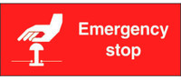 Emergency Stop Label