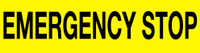 Emergency Stop Label (Black Lettering/ Yellow Background)