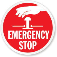 Emergency Stop With Hand Symbol