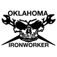 Oklahoma Ironworker Skull Decal