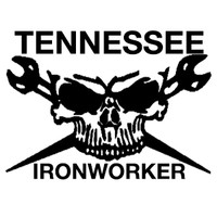 Tennessee Ironworker Skull Decal
