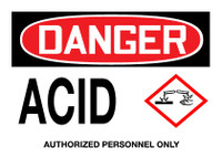 GHS Danger Acid