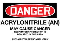 GHS Danger Acrylonitrile (AN) #2