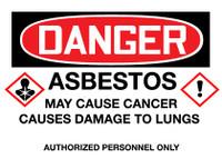 GHS Danger Asbestos