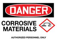GHS Danger Corrosive Materials
