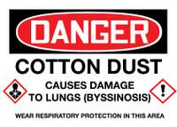 GHS Danger Cotton Dust