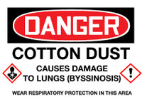 GHS Danger Cotton Dust