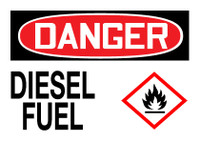 GHS Danger Diesel Fuel