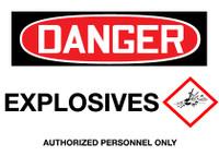 GHS Danger Explosives
