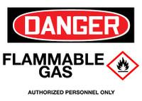 GHS Danger Flammable Gas