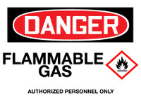 GHS Danger Flammable Gas