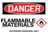 GHS Danger Flammable Materials