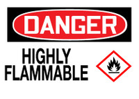 GHS Danger Highly Flammable