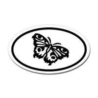 Butterfly Oval Bumper Sticker #1