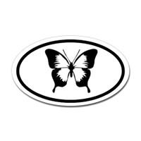 Butterfly Oval Bumper Sticker #2