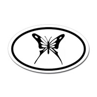 Butterfly Oval Bumper Sticker #3