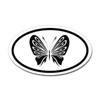 Butterfly Oval Bumper Sticker #4