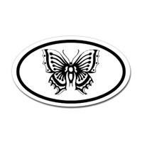 Butterfly Oval Bumper Sticker #10