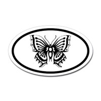 Butterfly Oval Bumper Sticker