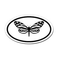 Butterfly Oval Bumper Sticker #11