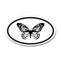 Butterfly Oval Bumper Sticker #12