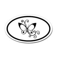 Butterfly Oval Bumper Sticker #16