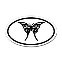 Butterfly Oval Bumper Sticker #17