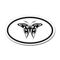 Butterfly Oval Bumper Sticker #18