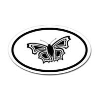 Butterfly Oval Bumper Sticker #19