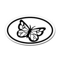 Butterfly Oval Bumper Sticker #20