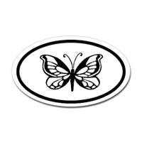 Butterfly Oval Bumper Sticker #21
