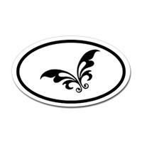 Butterfly Oval Bumper Sticker #24