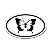 Butterfly Oval Bumper Sticker #25