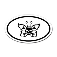 Butterfly Oval Bumper Sticker #26