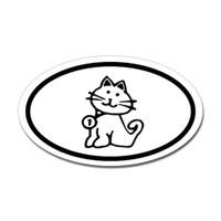 Cats Oval Bumper Sticker #2