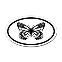 Butterfly Oval Bumper Sticker #13