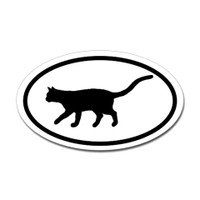 Cats Oval Bumper Sticker #10