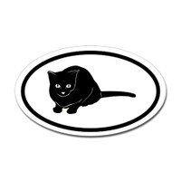 Cats Oval Bumper Sticker #12