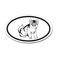 Cats Oval Bumper Sticker
