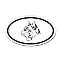 Cats Oval Bumper Sticker #15
