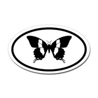 Butterfly Oval Bumper Sticker #14