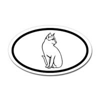 Cats Oval Bumper Sticker #23