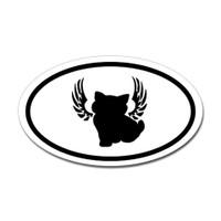 Cats Oval Bumper Sticker #26