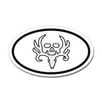 Hunting Oval Bumper Sticker #2