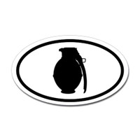 Hunting Oval Bumper Sticker #11