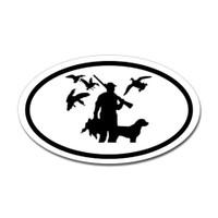 Hunting Oval Bumper Sticker #14