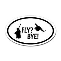 Hunting Oval Bumper Sticker #15